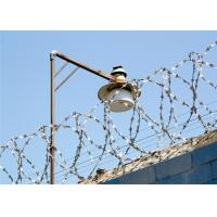 China Single Razor Type Galvanized Razor Barbed Wire Steel Wire Material Long Life on sale