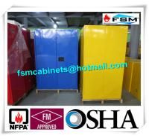 Steel Flame Resistant Cabinet Hazmat Locker For Corrosive Liquid In Chemical Manufactures