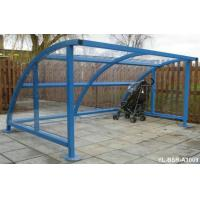 Custom Blue Iron Metal Display Stands Bicycle Rack In Public Manufactures