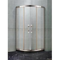 Rose Gold and Mirror Stainless Steel Quadrant Shower Enclosures With Two Center Pillar 8mm Glass Shower Manufactures