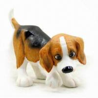 Hand-painted Polyresin Dog Statue, Meets US and EU Standards, OEM Designs are Welcome Manufactures