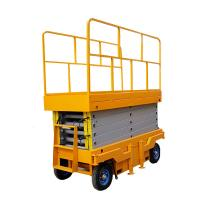 Automatic Electric Self Propelled Scissor Lift Lightweight Scissor Lift Yellow Color Manufactures
