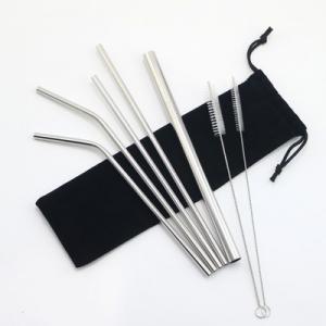 China Portable Stainless Steel Smoothie Straws Sanitary Non Disposable Type on sale