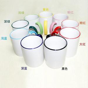 China Sublimation 11oz Border color Mug (9 colors) on sale