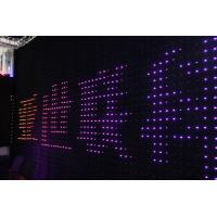 Quality Fireproof Velvet Cloth Rgb 3 In 1 Led Stage Animation Vision Curtain Backdrop for sale