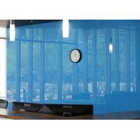 China Architectural Decorative Light Blue Back Painted Glass For Frameless Door on sale