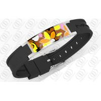 China Multi Color Enamel Stainless Steel Bracelets With Germanium Negative Ion Magnets on sale