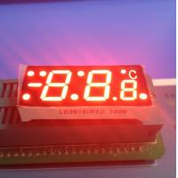 SGS Red  7 Segment Display For Digital Temperature Controller , Common Cathode 7 Segment Display Manufactures