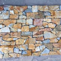 Golden Brown Color Random Loose Stack Stone Wall Cladding Heat Resistance Manufactures