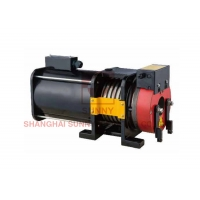 China Load 400kg Gearless Traction Machine Suitable For Home Elevator & Villa Elevator on sale