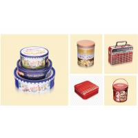 China Durable Metal Custom Packaging Boxes Square Chocolate Biscuit Cake Tin Container on sale