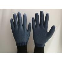 Anti Slip Granule Black Latex Gloves , Latex Dipped Work Gloves Comfortable Hand Feeling Manufactures