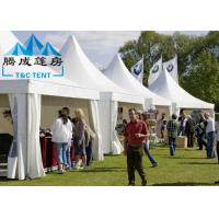 Promotional Waterproof Canopy Tent Gazebo Shaped With Soft PVC Walls / Glass Walls Manufactures