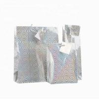 Unique Design Holographic Paper Shopping Bags / Paper Carrier Bags Hot - Stamp