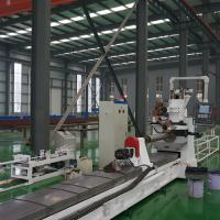 NC Wire Mesh Welding Machine / Wire Wrapped Screen Pipe Welding Machine Manufactures