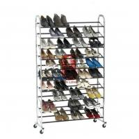 Durable Wire Floor Shoe Display Racks Hotel Furniture Manufactures