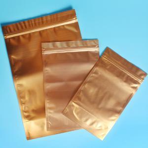 Plastic Zipper Coffee Packaging Bags , Three Layer Laminated Aluminium Bag For Tea Manufactures