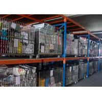 Silvery Foldable Galvanized Pallet Wire Mesh Cages For Warehouse Storage