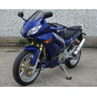 Blue Double Cylinder Four Stroke 250cc Chopper Motorcycle With Forced Air Cooling Manufactures