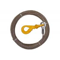 Steel Core Wire Rope Winch , Steel Winch Cable Self Locking Swivel Hooks Manufactures