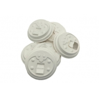 China 100% Biodegradable Disposable Sugarcane Coffee Cup Lid 80mm Bagasse Cup Lid on sale