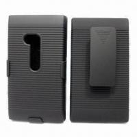 Combo Mobile Phone Case for Nokia Lumia 900, with 180 Degrees Rotatable Belt Clip Manufactures