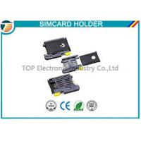 High Temperature SMT Sim Card Connectors For Micro Sim Cellular Phones Manufactures