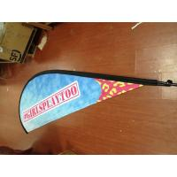 Outdoor Advertising Teardrop Flag Banner with Kits Manufactures