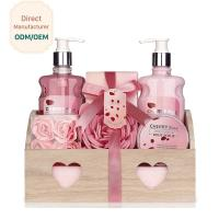Quality Holiday Bath Gift Sets Cherry Rose Aromatherapy Moisturizing Soothing Feature for sale