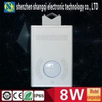 8W Human Body Sensor Integrated Solar Street Lights For Outdoor Road Lighting Manufactures