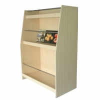 3 Layers Wooden Retail Display Stands For Decorative Painting Manufactures