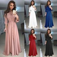 Buy cheap 2018 Autumn and Winter Women Long Dress Casual Long Sleeve Slim Dress Ladies from wholesalers