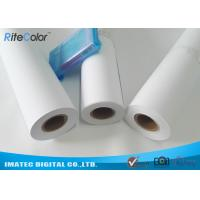 """42"""" / 44"""" Matte Coated Inkjet Paper Rolls Wide Format Printing Anti Fading Manufactures"""