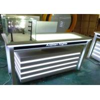 China Attractive Lighted Jewelry Display Case Fully White Lacquer Color Surface on sale