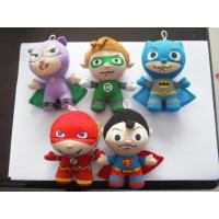 Fashion Small Superman and Batman keychain Stuffed Plush Toys For Christmas Promotion Manufactures