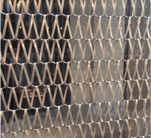 SS Sus 304 Grade Spiral Wire Mesh Conveyor Belt Decorative Wire Mesh Manufactures
