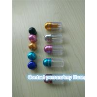 Quality Small Blue Clear Sex Pill Container Pharmacy Vials Empty Medicine Bottles for sale