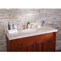 Corner Beige Marble Custom Bathroom Vanity Tops Modern 10mm 15mm 18mm Thick Manufactures
