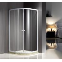 China White Quadrant Curved Corner Shower Enclosure Convenient Comfort Free Standing Type on sale