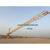 10T Tower Cranes TC6520 65M Load 2.0t End Load With 3m Fold Mast Sections Manufactures