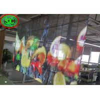 China Light Weight 72% clear video full color indoor P3.91-7.81mm glass transparent led display on sale