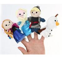 Lovely Cartoon Plush Toys Frozen Soft Finger Puppets For Promotion Gifts And Premium Manufactures