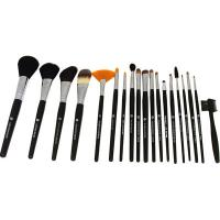 10pcs Natural Hair Makeup Brush Set with Pouch Manufactures