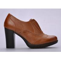 Durable Open - Top Womens Booties Shoes Brown For Autumn / Spring Manufactures