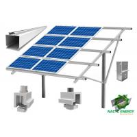 Buy cheap Anodized Aluminum Solar Ground Mount System Bracket Single Pole Sturdy Structure from wholesalers