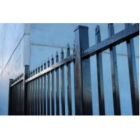 PE Sparyed Front Yard Privacy Fence Steel Palisade 1800mm Height Vandal Resist Manufactures