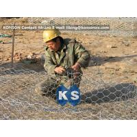 Custom Gabion Stone Cages Hexagonal Wire 80 x 100MM For Protection Engineering Manufactures