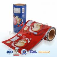 Food plastic film for ice cream packing.Food packaging plastic roll film with bestar packaging machine Manufactures