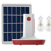 MP3 Radio 3 LED Bulbs Light Solar Power Panel Generator Kit USB Home Charger System Manufactures