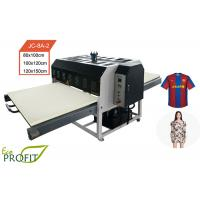 Double Shutle Hydraulic Flat Automatic Heat Press Machine For Jersey Printing Manufactures